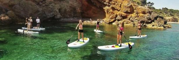 Suppen (stand up paddle) op Ibiza